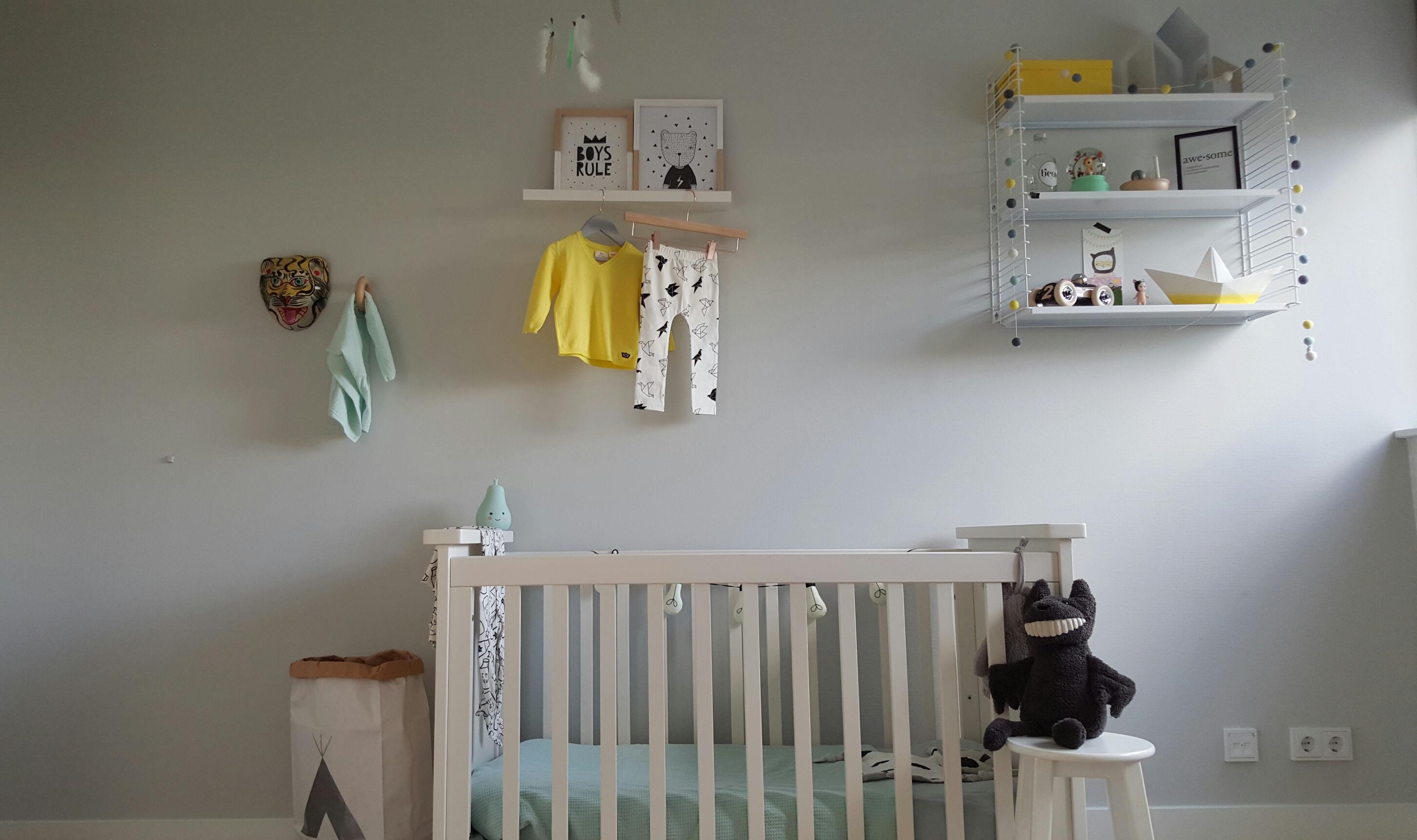 Een kijkje in de babykamer van beau mama is thuis